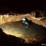 Esplorazione speleo subacquea nella grotta Ciasa de lis Aganis