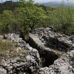 Trincea difensiva sul Monte Ermada