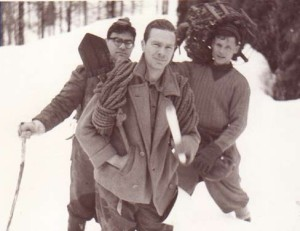 Cansiglio 1959. Mario Bussani è il primo a destra. (Arch. Pino Guidi)