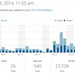 Un po' di statistiche di visite della pagina del 2013
