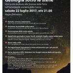 Geologia sotto le stelle a Illegio (Tolmezzo)