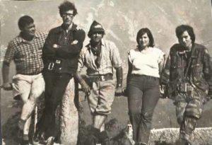 Romano Ambroso, Gianni Spinella e altri tre soci del R.E.S.T.