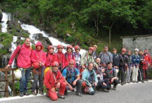 Il gruppo degli escursionisti a Fontanon del Timau