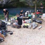 Sub disperso in profondità - I soccorritori italo-sloveni si esercitano al Gorgazzo