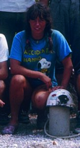 Susi a Sella Nevea, 1982 (foto Mauro Kraus)