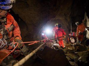 Esercitazione CNSAS in Grotta Doviza (Foto di repertorio di Paolo Manca)