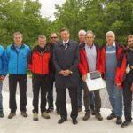 I Krti/Talpe con il Presidente della Slovenija Borut Pahor e dello JZS Igor Benko