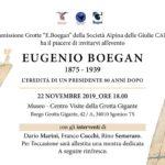 Serata in ricordo dell'80º anniversario della morte di Eugenio Boegan